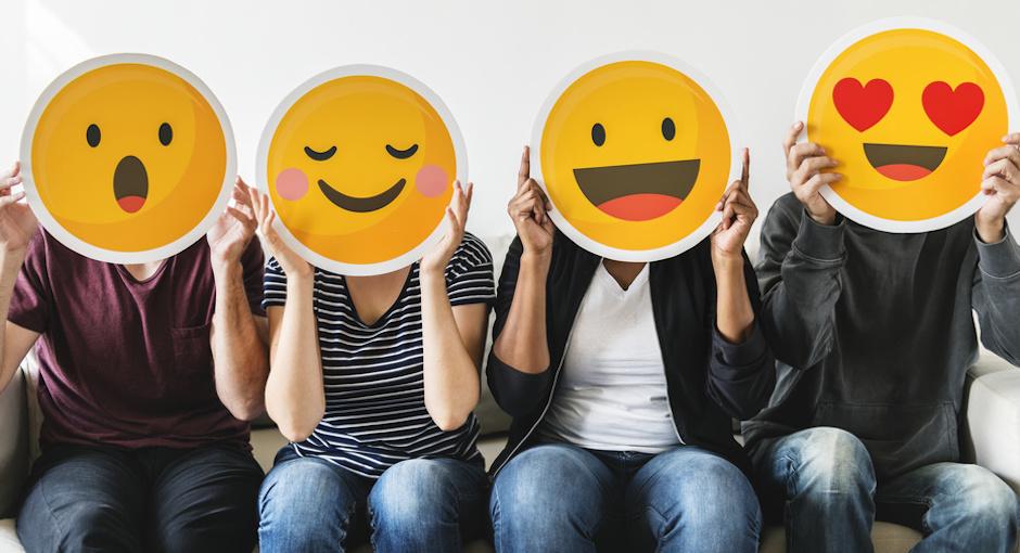 Smileys als Reaktionen zu Versicherungen