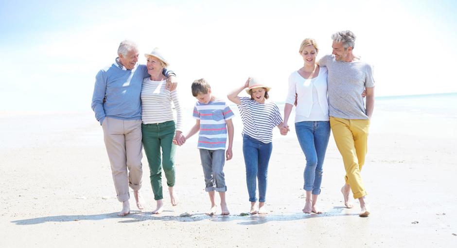 Familie im Urlaub - Altersvorsorge
